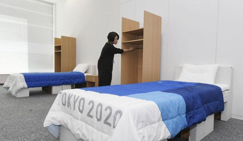 tempat tidur atlet Olimpiade Tokyo 2020