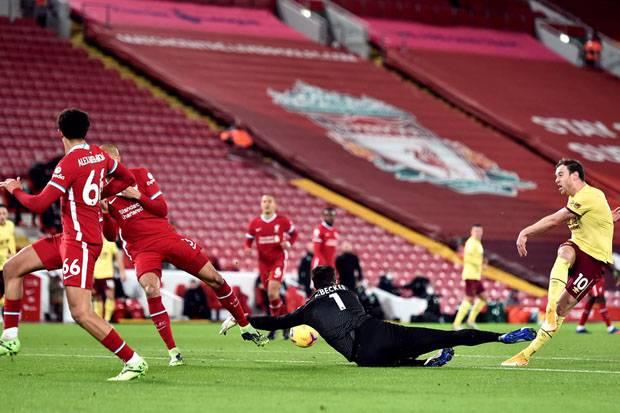 laga Burnley vs Liverpool