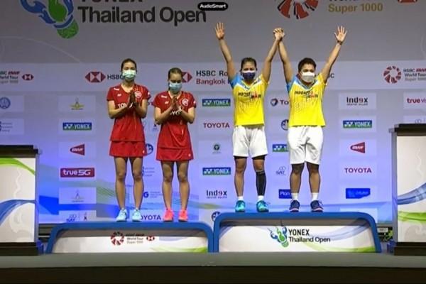tim ganda putri Indonesia menang di Thailand open 2021