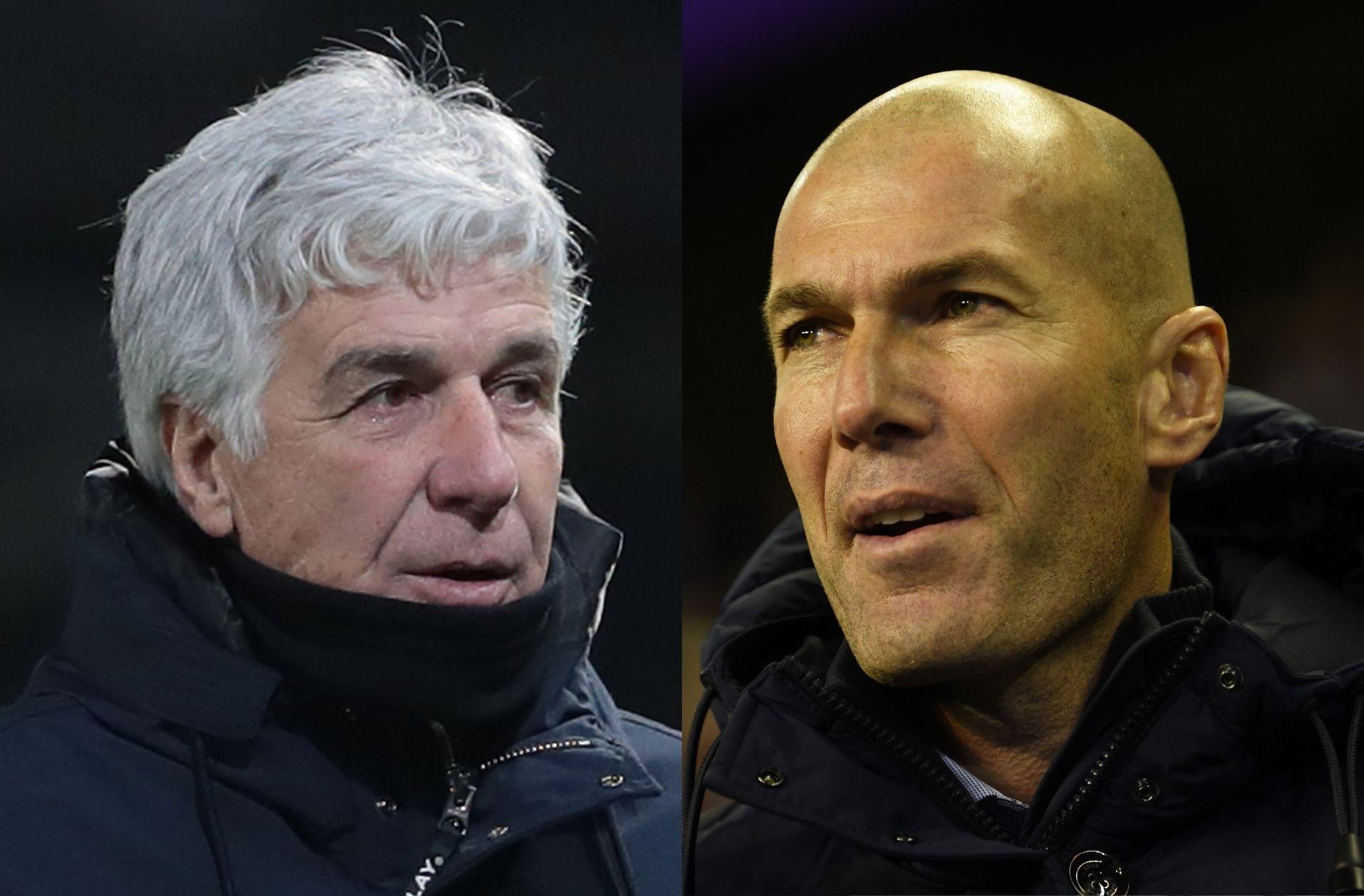 pelatih Real Madrid vs pelatih Atalanta