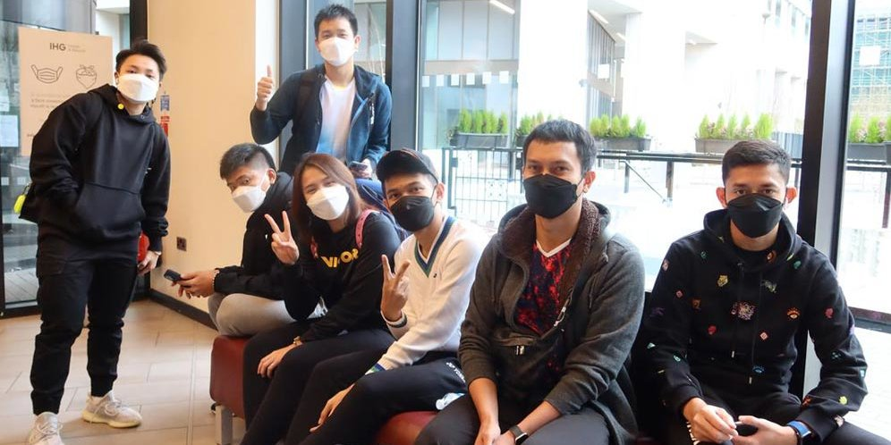 tim bulu tangkis Indonesia tiba di Jakarta