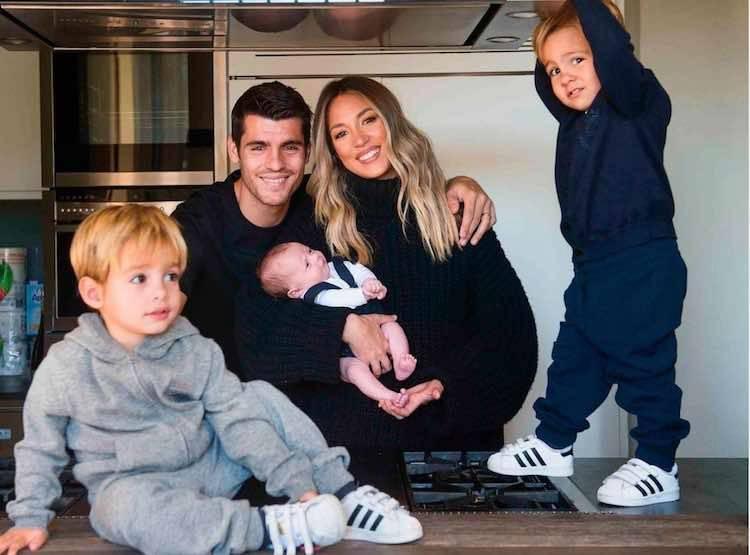 anak kembar Alvaro Morata