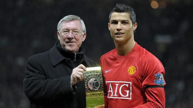 Cristiano Ronaldo dan Alex Ferguson
