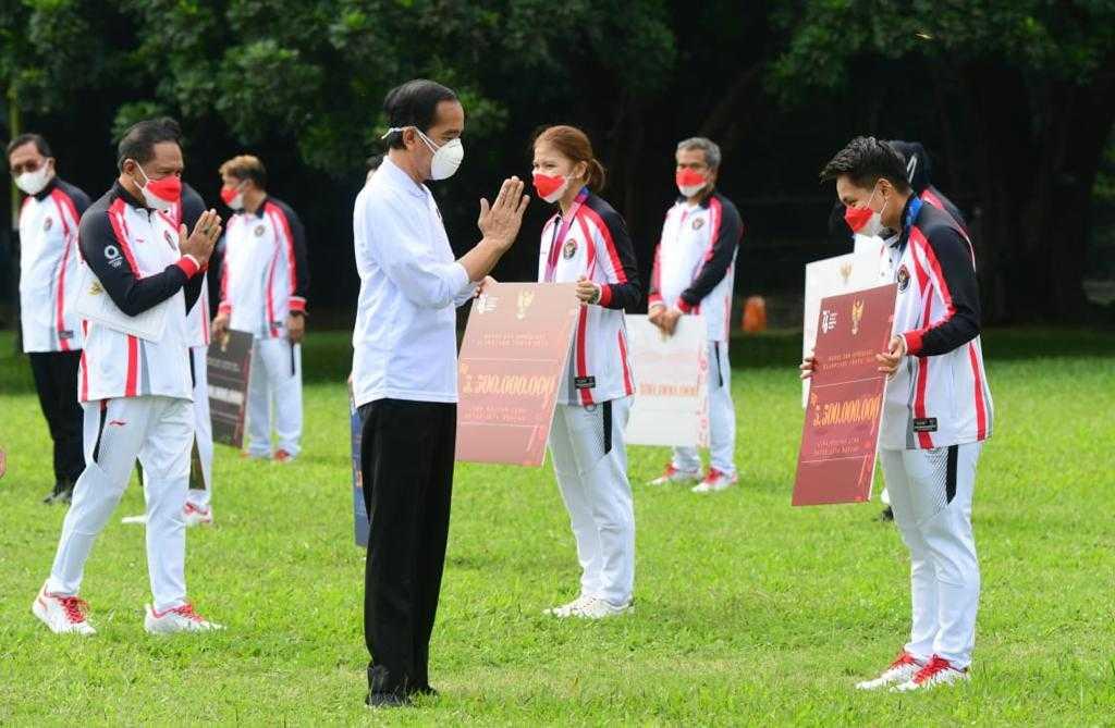 Jokowi sambut para atlet Indonesia
