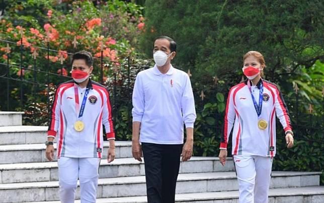jokowi dan atlet Indonesia